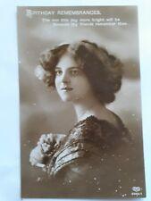 "Vintage Early 1900's Greetings Birthday Postcard ""BIRTHDAY REMEMBRANCES"""