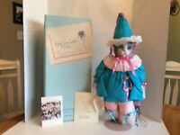 1992 GOEBEL BETTE BALL RUDY TOOTIE PORCELAIN MUSICAL CAT DOLL-ORIGINAL BOX