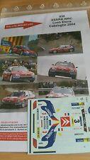DECALS 1/43 REF 838 CITROEN XSARA WRC SEBASTIEN LOEB RALLYE CATALOGNE 2004 RALLY