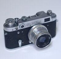 FED 2 Vintage Rangefinder 35mm Film Camera INDUSTAR-26M 50mm f/2.8 Lens USSR