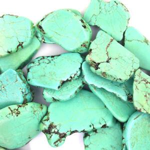 Turquoise Stalactites Blue Slice Slab Freeform Flat Slice Blue Turquoise Slab 27x36mm Kingman Turquoise Slice Turquoise Stone