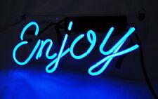 "ENJOY HOME LAMP Art Windwos Bike Club Joker BEER POSTER NEON LIGHT SIGN 5""X12"""