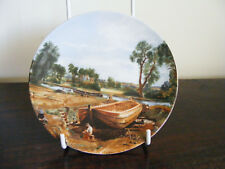 """Poole  Plate  Boat  Building  At  Flatford  Mill  Decoration  6""""  Diameter Plate"""