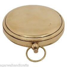Brass Pocket Stanley Compas @ Push Button Pocket Compass/vintage 1917 compass