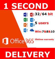 INSTANT Microsoft Office 365 Pro LIFETIME Subscription 5 Devices Windows Mac