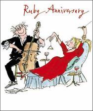 Quentin Blake Rubí Aniversario rango de las tarjetas de saludos popular tarjeta de felicitación