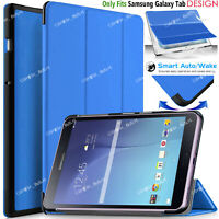 "Leather Magnetic Smart Case Cover For Samsung Galaxy Tab E 9.6"" SM-T560 SM-T561"