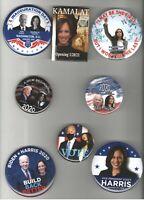 8 KAMALA HARRIS pinback Campaign 2020 2021 INAUGURATION pin Joe BIDEN