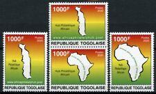 More details for togo stamps 2020 mnh african philately hub africa maps 4v set