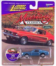 Johnny Lightning Mustang Classics #29 1968 GT Blue 1997 MOC