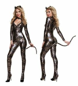 Leopard Suit Fancy Dress Cosplay Costume Outfit
