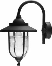 Traditional Black IP44 Outdoor Fishermans Wall Lamp Lantern Outside Driveway