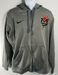 Nike Therma Fit Manny Pacquiao Full Zip Mens Gray Hoodie Track Jacket XL