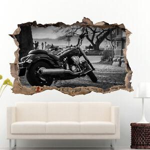 Super Vintage Classic Motorbike Wall Sticker 3D Art Poster Decal Mural Decor RH9