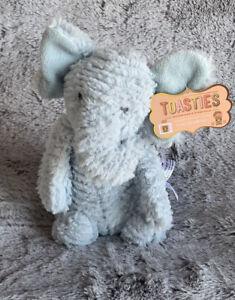 """Elephant Blue FAO Schwarz Toasties 12"""" Stress Relief Toy Plush-Microwaveable"""