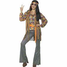 60's Hippie Singer Twiggy Groovy Hippy Womens Ladies Fancy Dress Costume