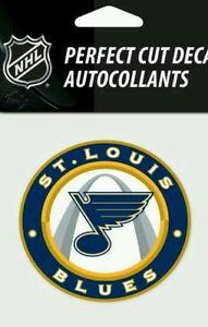 St Louis Blues Logo 4 x 4 Perfect Cut Car Decal See Description