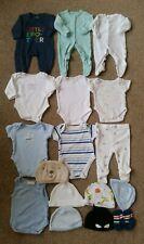 Baby Boy babygrow, bodysuit, Hat Clothe Bundle, newborn