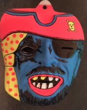 PIRATE PLASTIC RETRO 1960S HALLOWEEN  MASK  FANCY DRESS COLLECTABLE