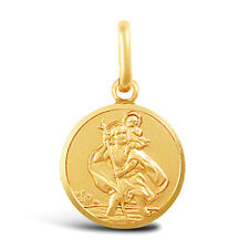 9CT GOLD SOLID ROUND ST CHRISTOPHER PENDANT Erin Rose Jewellery Co
