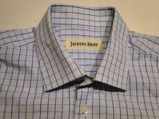 Jacques Britt Design Hemd Langarm Blau Kariert Baumwolle KW 42