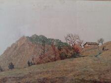 EDOARDO TOGNI  ( Brescia 1884 - 1962 -    57 x 80 cm  - olio - PAESAGGIO MONTANO