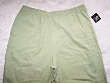 Womens Blair Gauze Cotton Dress Pants XL Light Celery Green Elastic Waist NWT