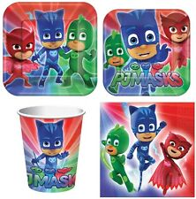 New PJ Masks Party Supplies Express Pack for 8 Guests (Cups Napkins & Plates)