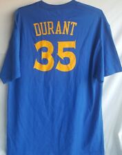 Golden State Warriors # 35 Kevin Durant Blue Shirt Top Adult XL Used