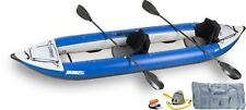 NEW Sea Eagle 420XKPCT Inflatable Explorer Kayak Pro Carbon Package for 2 Person