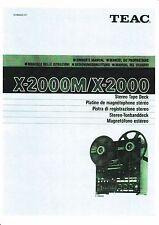 Owner's Manual/manual de instrucciones para TEAC x-2000, x-2000m