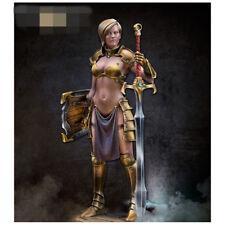 75mm Resin Figure Model 1:24 Sexy Beauty women Warrior G257 Miniatures Resin Kit