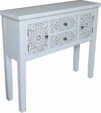World Menagerie Feliciano Console Table, White