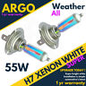 H7 499 477 55w All Weather Xenon White Effect Hid Rainbow Halogen Bulbs 2pcs 12v