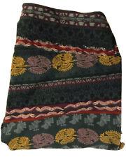 NWT LULAROE LEGGINGS OS AZTEC PRINT, GREEN, RED, PURPLE, YELLOW, MAUVE, LOVELY!