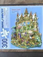 """Bits and Pieces 300 Pcs Jigsaw Art Puzzle Fantasy Castle 20"""" x 26.5"""" Large"""