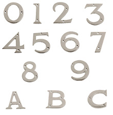 "Polished Chrome Numerals Door Numbers 0 - 9 | 3"" & Letters A-C 2.5/8"""