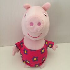 Peppa Pig 30cm Talking Plush Soft Toy Pink Flower Dress Battery Operated