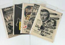 Lot of 10 Vintage Movie Advertisements