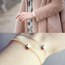 2pcs/set Gold Silver Plated Charm Star Chain Bracelet Women Girl Jewelry Gift