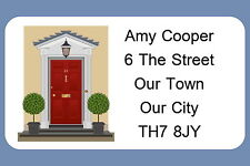 40 PERSONALISED GLOSS CHANGE OF ADDRESS STICKERS, FRONT DOOR THEME