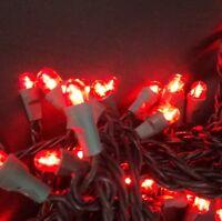 LED Kugel Lichterkette in rot 5 m Partylichter 50 Lampen Weihnachtsbeleuchtung
