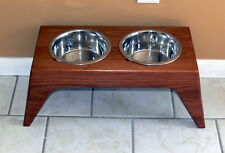 Elevated Dog Diner- New Handcrafted Raised Two Bowl Feeder