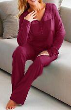 Sonno tuta pigiama tg. 40/42 Mirtillo Rosso Vinaccia Biancheria Notte 923375 Merce Nuova