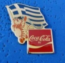 1988 Coca Cola Ltd Edition Flag Pin - GREECE