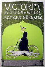 Victoria Art Nouveau German Bicycle Poster