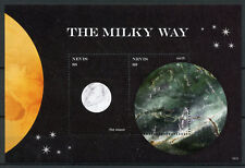 Nevis 2018 MNH Milky Way Earth Moon 2v S/S Planets Space Stamps