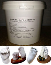 5kg WHITE Casting Stone..Perfect for all your casting needs..Re-sealable Pail