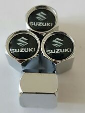 SUZUKI Wheel Valve Dust caps CHROME ALL COLORS ALL MODELS SWIFT JIMNY CULTUS