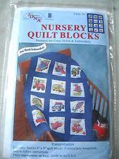 Jack Dempsey Nursery Quilt Blocks Transportation Stamped Cross Stitch Vehicles